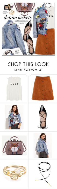 """""""Denim Jacket"""" by oshint ❤ liked on Polyvore featuring Kate Spade and Witchery"""
