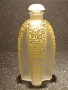 Lalique Perfume Bottles   French Antique Glass Art