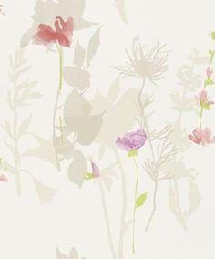 Flower Poetry 451610 by Rasch - girls bedroom Of Wallpaper, Flower Wallpaper, Designer Wallpaper, Pattern Wallpaper, Girls Bedroom, Bedroom Decor, Bedrooms, Flower Poetry, Scrapbook Paper