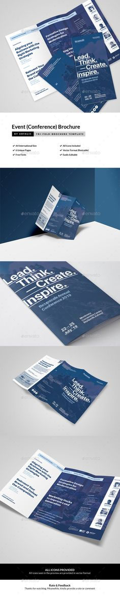 Event/Conference InDesign Brochure  Template • Only available here ➝ http://graphicriver.net/item/eventconference-brochure/16562802?ref=pxcr