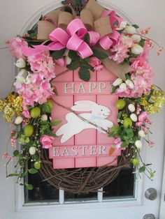 Easter Wreath,Spring Wreath,Pastel Pink Floral Decorated Grapevine Wreath,Country Cottage Easter Wreath,Farmhouse Decor,Front Porch Decor
