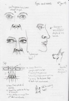 Eyes and Nose Tutorial by Chief-Artist-21.deviantart.com on @deviantART