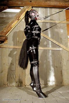 Distracting things to share with her. Always remember the sexiest thing is CONSENT. Horse Costumes, Sissy Boy, Dominatrix, Weird And Wonderful, Play, Catsuit, Little Pony, Role Models, Kinky