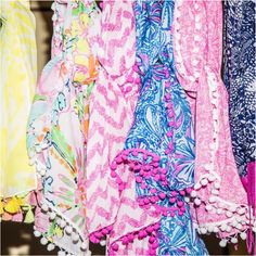 Lilly Pulitzer for Target collaboration - love these pom pom scarves