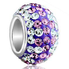 Fashion CZ Crystal Silver Plated Charms European Beads Fit Charm Bracelets | eBay