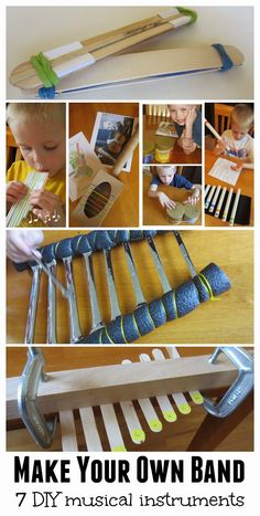 Relentlessly Fun, Deceptively Educational: 7 DIY Music Instruments {Make Your Own Band} + Linky!