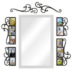 Product Image for WallVerbs™ 6-Piece Over-the-Door Scroll Photo Frame Set in Black 2 out of 3