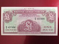 £1 British Forces Banknote Serial Number K/2 427306 Personalised Initial K