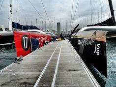 [#Picoftheday - #Photooftheday] Les deux géants côte à côte à la Trinité sur Mer #Like #Nice #InstaVoile #InstaSail #InstaBoat #SailingDay #Sailing #Instamood #Instagood #LaTrinite #JulesVerne #idecsport vs #Spindrift2 #Ultime - www.ScanVoile.com