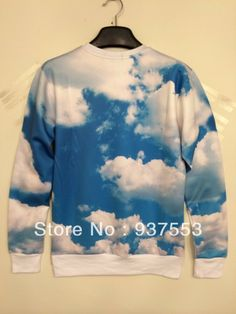 bat norton iswag Russia hiphop gugu 3D swearshirt sexy chic cool 2014 new arrival fashion unisex sky cloud geek rock $18.00