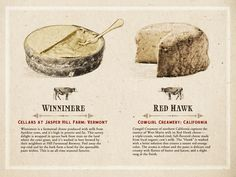 Wanna learn a little about some awesome cheeses? Here are Winnimere from the Cellars at Jasper Hill Farm and Red Hawk from Cowgirl Creamery! #DaryRye