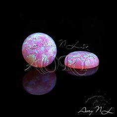 1pcs 8mm Bubble Gum Synthetic Opal Cabochon Round Shape