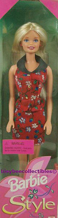 Barbie STYLE BARBIE Doll 20766 Fashion Avenue Red Floral Dress 1998 Mattel NRFB #Mattel #BarbieDoll