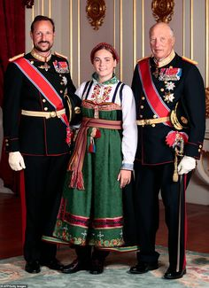 Royals from across Europe flock to Oslo to celebrate Princess Ingrid Alexandra's confirmation | Daily Mail Online