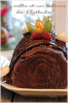 les milles & un délices de ~lexibule~: ~Bûche au chocolat, noisettes et crème de marrons~