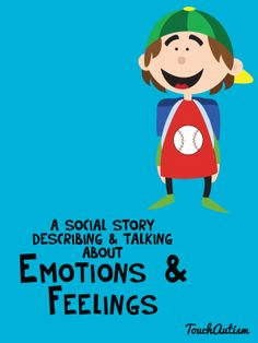 A social story app that has visual support for teaching emotions and feelings. social story that describes different feelings. the story focuses on why or when a person may feel something and what may cause different feelings or emotions. Great for children with Autism Spectrum Disorders. #autismapps #socialskillapps #touchautism
