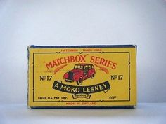 B5 Box For 1960 MOKO Lesney Matchbox No.17 'AUSTIN TAXI CAB'---see Photos & More - http://www.matchbox-lesney.com/43935