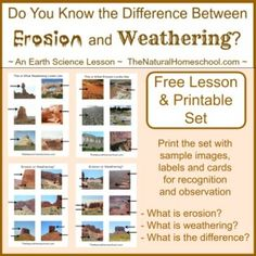 Weathering vs Erosion ~ Awesome Science STEM Activities is a super easy and fun Science experiment that will teach your kids how the earth works. 7th Grade Science, Stem Science, Middle School Science, Weird Science, Elementary Science, Science Classroom, Teaching Science, Science Education, Teaching Ideas