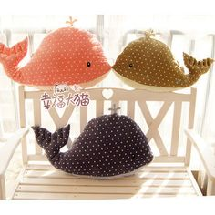 Whale cushion.