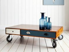 Small Drawer Coffee Table With Wheels