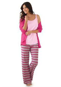 77df734c68 3-pc. cotton knit pajamas by Dreams  amp  Co.®