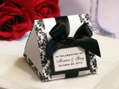 wedding favors black white and red - Google Search