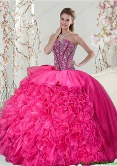 33320af2784 Buy 2015 detachable fuchsia sweet 15 dresses with beading and ruffles from hot  sale quinceanera dresses collection