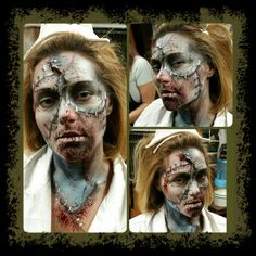 Makeup I did at Haunted Trail  San Diego tonight