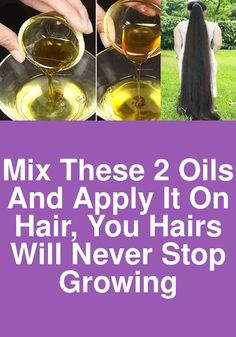 Mix these 2 oils and apply it on hair, You hairs will never stop growing Vitamin E Hair, Black Castor Oil, Hair Growth Oil, Essential Fatty Acids, Hair Oil, About Hair, Beauty Queens, Healthy Hair, Omega
