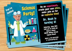 Mad Scientist Birthday Party Invitation for Kids by eventfulcards, $14.99
