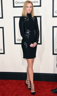 When Nicole Kidman shows up for an award show, we know she'll bring her top game—fortunately she brought her legs too in Thierry Mugler's grometted mini.