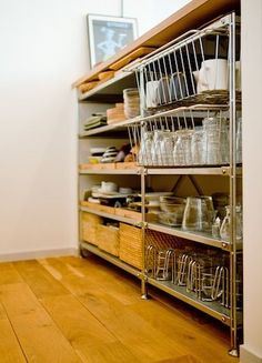 22 Ideas Kitchen Furniture Table Shelves For 2019 Table Shelves, Kitchen Shelves, Kitchen Storage, Cupboards, Kitchen Interior, Room Interior, Kitchen Decor, Kitchen Cart, Kitchen Furniture