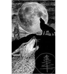 Tarot Card Art Print of The Moon 8x10 Print  of by treetalker, $18.00