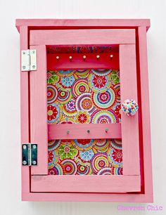 Soo cute for a little girl or for me!!!  Girls Jewelry Organizer  Chevron Chic by ChevronChicFL on Etsy, $50.00