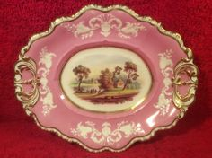 Gorgeous Antique Hand Painted French Porcelain Tray Platter c1800's, p262 #French