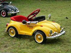 Lamborghini Yellow Bug Pedal Car Original VW #volkswagen #pedalcar