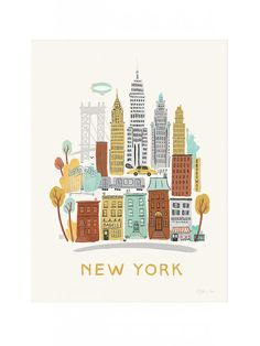 New York City Neighborhood Poster Print