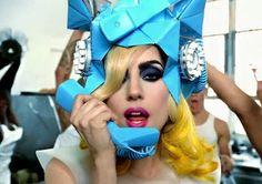 """Gaga """"telephone"""" video makeup look"""