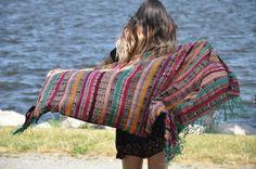Handmade Silk Wrap Colorful Boho Silk Wrap by Tienditaboutique