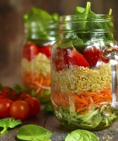 How to Make a Mason Jar Salad   It's portable, practical, and completely customizable.