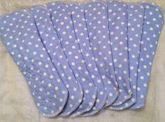 Blue polka dot night menstrual cloth pad by leonorafi on Etsy