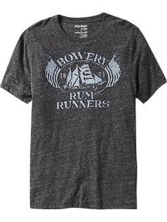Men's Marled-Jersey Graphic Tees   Old Navy