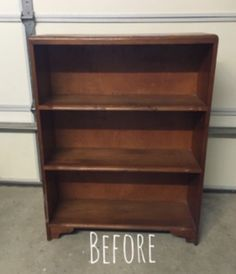 """How to Give A New Look for an Old Bookcase DIY Hey my friends! On one of my """"treasure hunting"""" adventures, I spotted this solid wood bookcase. Small Bookshelf, Old Bookcase, Wood Bookshelves, Bookshelf Design, Refurbished Bookcase, Bookshelf Ideas, Painted Bookcases, Corner Shelves, Wall Shelves"""