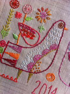 NANCY NICHOLSON: Hand embroidered sampler