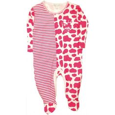 Bebe Cool Pink Cow Print Sleepsuit - even if my grandchild is a boy they will be wearing this! Pink Cow, Cow Print, Cool Stuff, How To Wear, Clothes, Bebe, Outfits, Clothing, Clothing Apparel