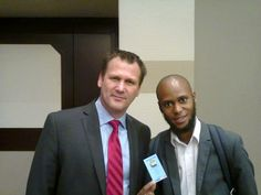 Andrew Smith with Siyabonga Sithole at The JT Foxx Event.