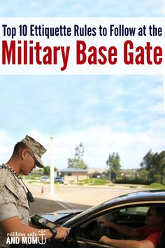 Awesome tips for military spouses to always have a smooth experience at the military base gate | Military wife | Military family | Military significant other |  Military girlfriend via @lauren9098