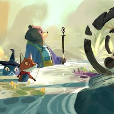 A few more animals on a quest #cute #art http://ift.tt/1llCOZN