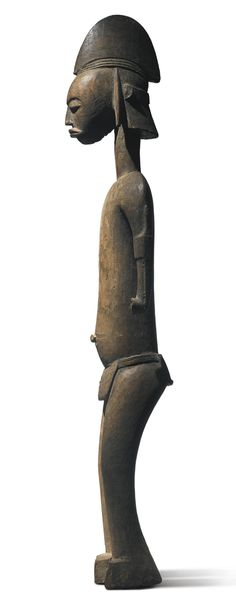 BAMANA MALE FIGURE, MALI Height: 41 1/2 in (105.4 cm) Sotheby's New york In Pursuit of Beauty: The Myron Kunin Collection of African Art 11 November 2014 Sold 377,000 USD