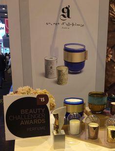 AWARDS : la fragrance SYZYGIE à été récompensée d'un Beauty Challenger Awards dans la catégorie Parfum à Paris en septembre 2015 Candle Jars, Candles, Fragrance, Beauty, Bergamot Orange, Orange Blossom, September, Beleza, Candle Mason Jars